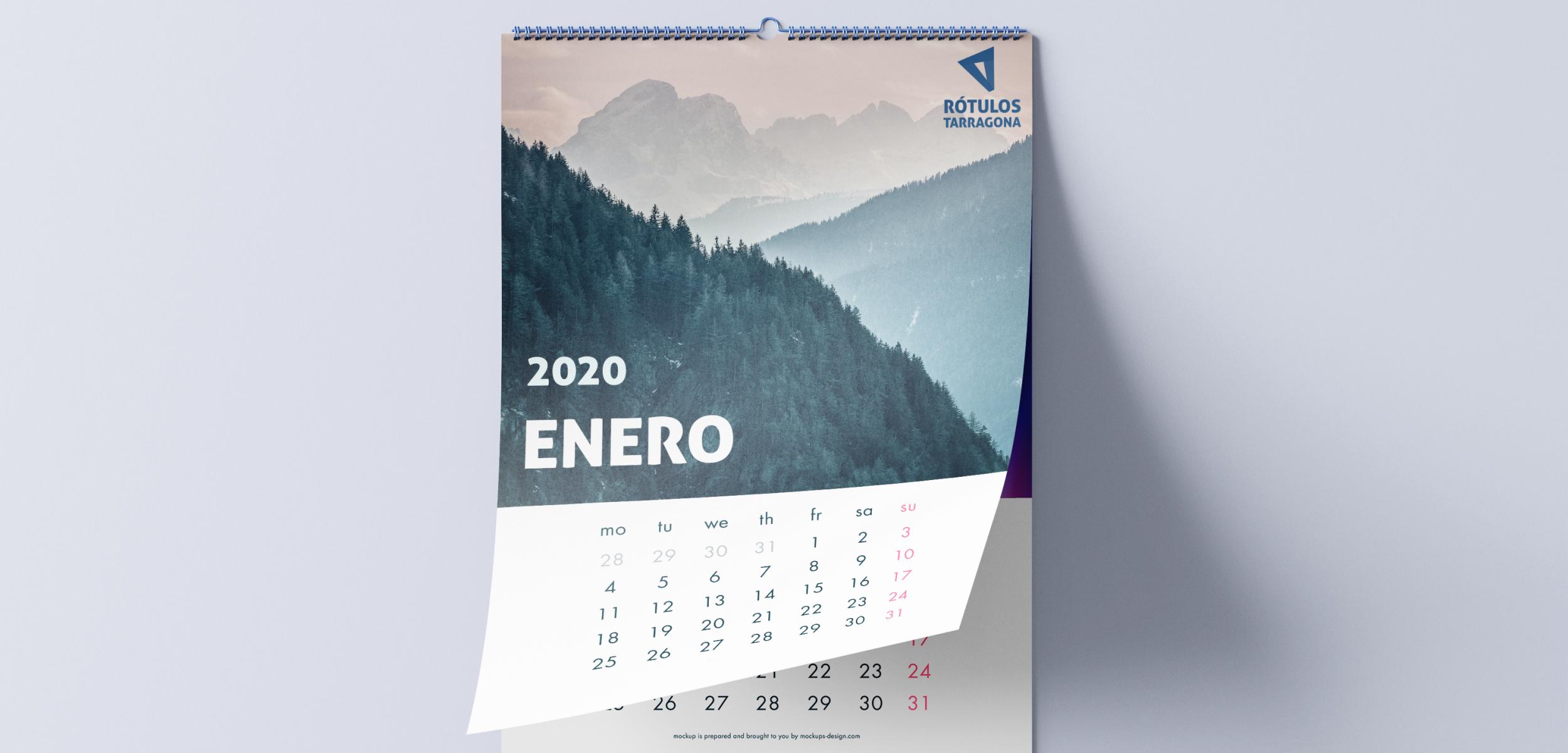 impresión de calendario